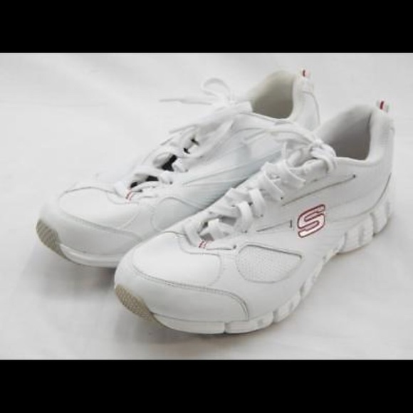 """Skechers """"Slide"""" Tennis Shoes in red & white"""
